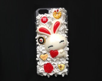 Kawaii Bunny Iphone 6 Decoden Phone Case