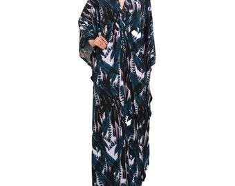 Bohokaftan Maxi Plus Size Dress Modern Caftans Blue for Women