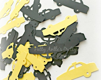 Taxi Cab Die Cuts, Taxi Confetti, Taxi Cabs Cut Outs, 20 Ct.