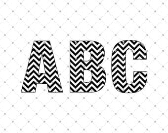 Chevron Font SVG cut files, Digital Font, SVG files for Cricut, Silhouette, Vinyl Cutters, Monogram Font svg, svg files