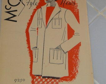 Vintage Sewing Pattern Catalog Booklet McCall's Style News from May 1937 - ORIGINAL