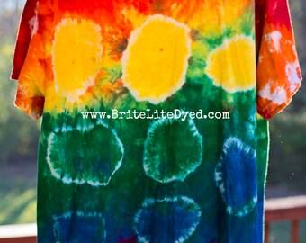 Tie Dye T Shirt LARGE-Rainbow-Tie Dyed Clothing-Women's Clothing-Men's Clothing-Festival Clothing-Tye Dye-Tie Dyed-Boho-Skater-Hippy-Tiedye