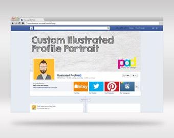 Custom Illustrated Profile Portrait