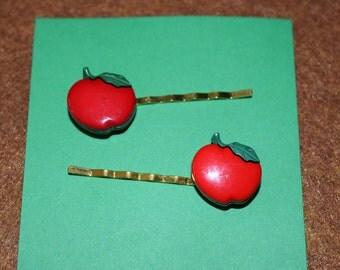 Red Apple Hair Bobby Pins