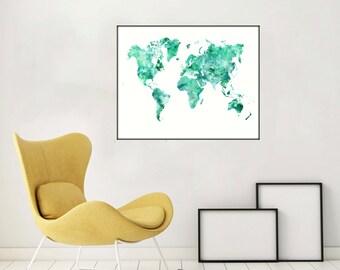 Large World Map Etsy - Large world map image