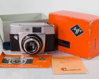 Agfa Silette Rapid I - Vintage 35mm Camera - Original Box and Paperwork - Collectible Camera