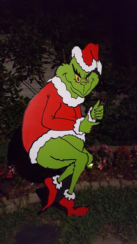 Grinch Yard Art The Grinch Is Stealing Christmas Yard Art