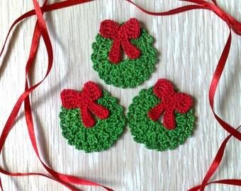 Christmas wreath, christmas decoration Christmas ornament Christmas applique design Holiday applique