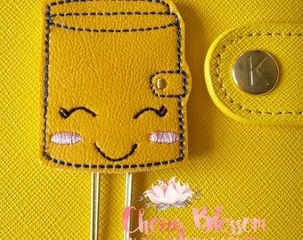 Yellow Happy Planner Paper Clip