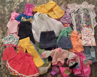 Vintage Doll Clothes -- 35 pieces of various styles 1960s D472