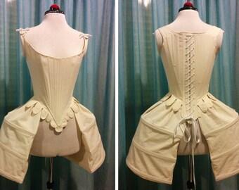 18th Century pocket-hoops panier, 1700 rococò Marie Antoniette style, undergarment larp