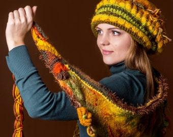 Women beret. Felt hat/Bright winter beret/Warm woman hat/Yellow beret/Red Blue beret/Woman hat/Woman winter hat/Woman winter set