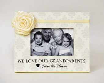 Grandparents Personalized Picture Frame Gift Idea Grandchildren Grandkids Grandbaby Grandchild Grandfather Grandmother Grandma Grandpa