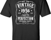 61st Birthday Gift For Men and Women - Vintage 1956 Aged To Perfection Mostly Original Parts T-shirt Gift idea. More colors available N-1956
