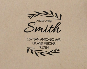 Wedding  Stamp  Return Address Stamp  Personalized Return Address Stamp  Custom Rubber Stamp