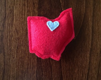 Ohio State Cat Toy - Catnip Cat Toy State and City