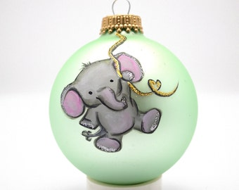 Custom Hand Baby's First Christmas Ornament
