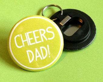 Dad Bottle Opener Keyring Fathers Day Gift