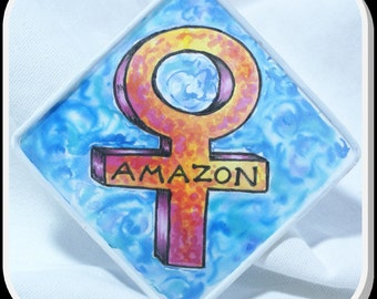 Amazon - Original Silk Painting