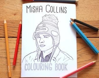 Misha Collins Colouring Book