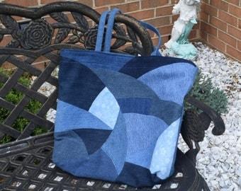 Denim Patchwork Tote Bag, Classy and Original