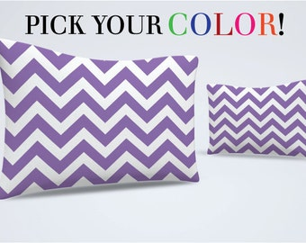 Pillow Sham, Chevron Pillow, Pattern Bed Pillow, Zig Zag Pillowcase, Printed Pillow Cover, Chevron Sham, Standard Size Pillow