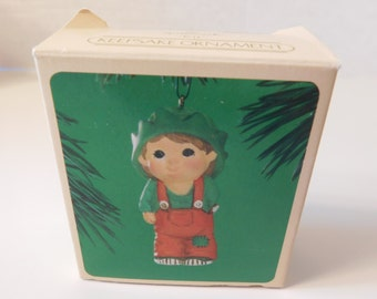 1984 Kit the Elf Hallmark Keepsake Vintage Ornament Candy Cane with Box