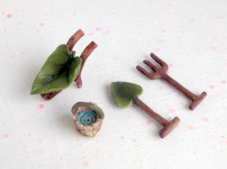 Fairy garden accessories fairy garden tools by merryelfmas for Garden tools accessories