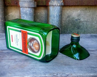 Jagermeister Man Cave Decor Upcycled Scented Candle - Fun and Unique Gift!