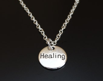 Healing Necklace, Healing Jewelry, Healing Charm, Healing Pendant, Get Well Necklace, Get Well Gift, Protective Necklace, Chakra jewelry
