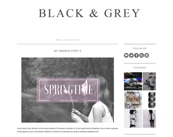 Responsive, professional, minimalistic, elegant and simple blogger template theme with free social media icons
