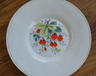 Vintage Westmoreland Milk Glass Fruit/Zodiac Pattern Serving Platter--15""