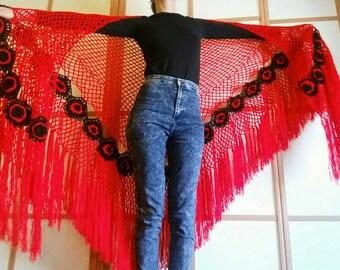 spanish lace shawl – Etsy