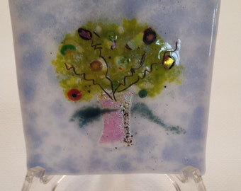 Fused Glass Wall Art - Tree of Life