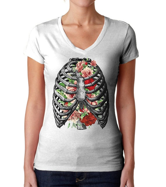 Rib Cage Shirt Skeleton Shirt Halloween Shirt Bones Shirt