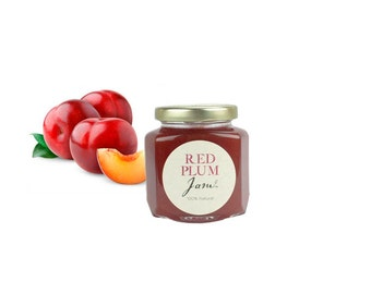 Gourmet Red Plum Jam // All Natural // New Hampshire Home Grown // 6 oz