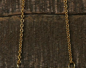 18'' Personalized Single Bar Necklace, Personalized/ Handmade, Hand Stamped