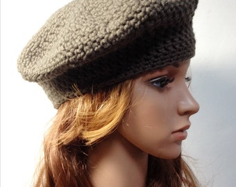 Crochet PATTERN - LISE BERET - Crochet Hat Pattern - crochet hat pattern