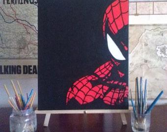 Spiderman - Custom Handpainted Acrylic Canvas