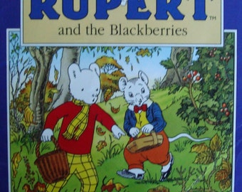 Rupert the Bear, Rupert and the Blackberries - Vintage Illustrated Children's Story Book