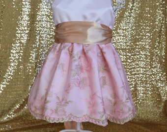 Pink and Gold Baby and Toddler Dress