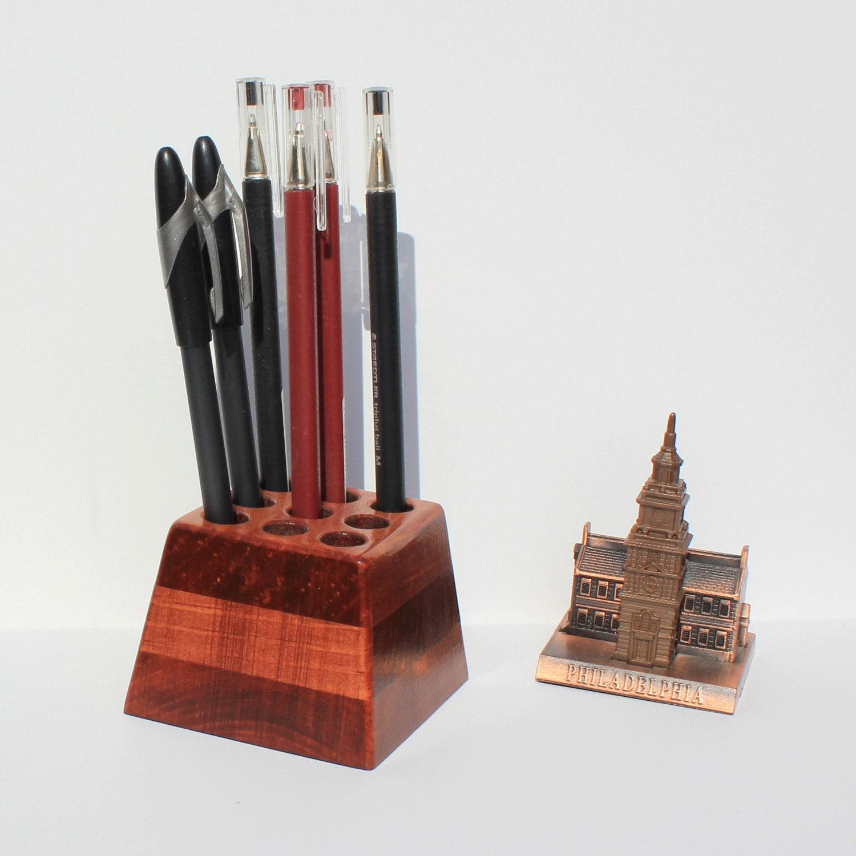 Wooden Pen Holder Pencil Holder Pine Wood Desk Organizer