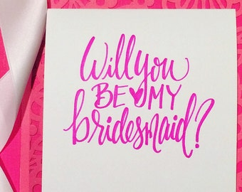 Card Set of 4: Will you be my bridesmaid?