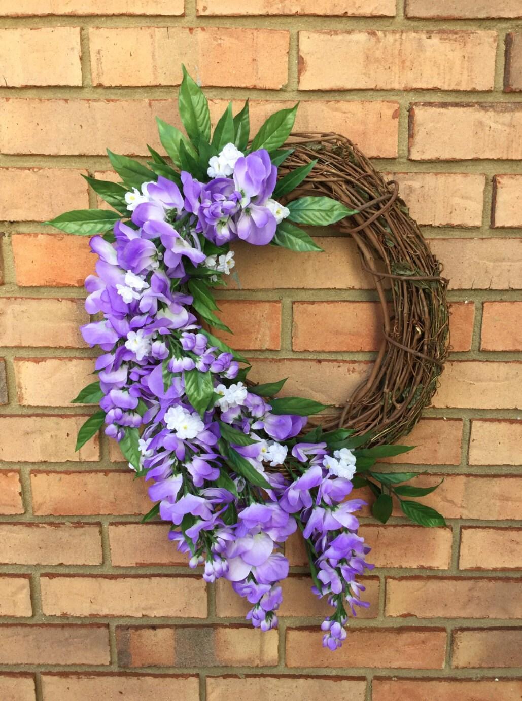 Outdoor Door Wreaths Wisteria Wreath Door Decor Spring