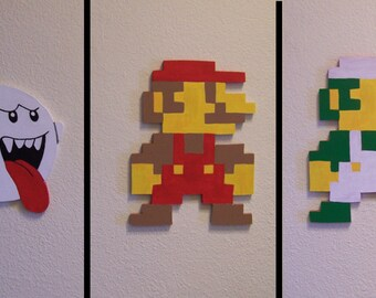 Mario Bros. Wood Art