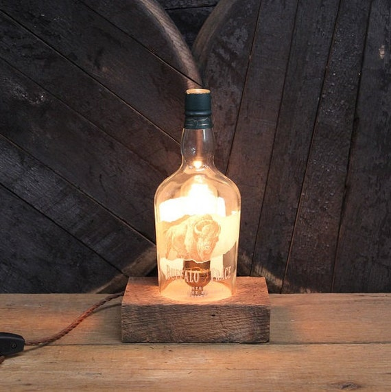 Buffalo Trace Bourbon Bottle Lamp Gift, Gift For Him,Valentine's For Guy, Gift For Dad, Valentine's Day, Valentine's Gift, Gift For Brother