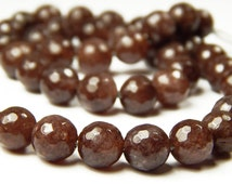 15 Inch Strand - 8mm Faceted Sunstone Beads - Gemstone Beads - Jewelry Supplies