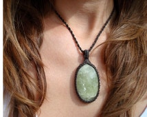 Heliodor Necklace/Throat Chakra/Golden Beryl/Expression/Macrame Jewelry/Unique Voice/Speak Your Truth/Crystal Necklace/Beryl Jewelry/Gaia