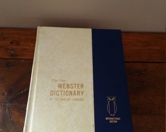 The New Webster Dictionary of the English Language, International Edition, Dictionary, Webster's Dictionary, Volume 2, Grolier, Library,Book