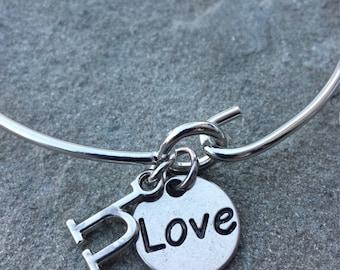 "Initial ""Love"" Bracelet"